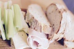 Artisan bread board Royalty Free Stock Image
