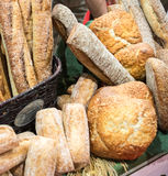 Artisan Bread Display Stock Image