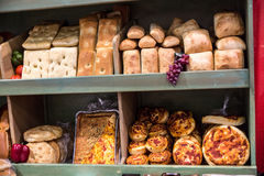 Artisan Bread Display Stock Images