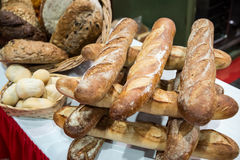 Artisan Bread Display Stock Image