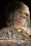 Artisan Bread Loaf. A loaf of sliced artisan bread showing the open crumb Royalty Free Stock Photography
