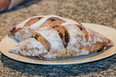 Artisan bread with olives Royalty Free Stock Photos