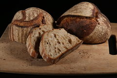Artisan Bread Sourdough 2. Artisan Bread Sourdough on Cutting Board royalty free stock image
