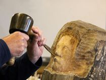 Artisan Carving Photo libre de droits