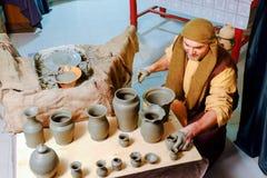 Artisan ceramics in Christmas live nativity scene Stock Photography