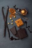 Artisan chocolate food background Stock Photography