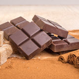 Artisan Chocolate. With some of the ingriedients that goe in to these chocolates Royalty Free Stock Photography