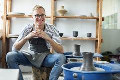 Artisan Clay Pottery Creativity Concept images libres de droits