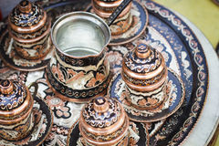 Artisan decoration tea set Stock Image