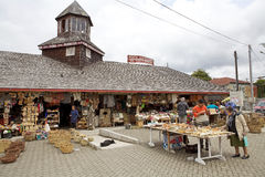 Artisan fair at Dalcahue, Chiloe Island, Chile Royalty Free Stock Photography