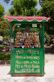 Artisan honney shop at Krk seaside near old town in Croatia Royalty Free Stock Photo