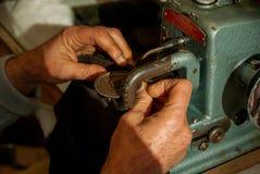 Artisan, leather, manufacturing Stock Image