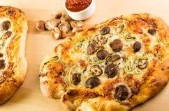 Artisan mushroom fennel pizza Stock Image