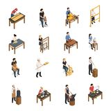 Artisan People Isometric Set Royalty Free Stock Image