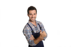 Artisan with a positive attitude Stock Photo