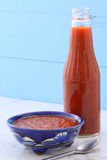 Artisan red hot chili sauce Stock Images