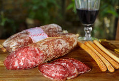 Artisan salami Royalty Free Stock Photography
