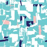 Artisan seamless pattern with abstract shapes and colors Royalty Free Stock Photos