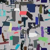 Artisan seamless pattern with abstract shapes and colors Stock Image
