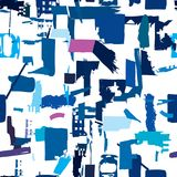 Artisan seamless pattern with abstract shapes and colors Royalty Free Stock Photography