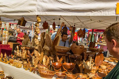 Artisan Selling Crafts – Salem, Virginia, USA stock photo