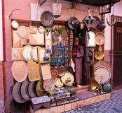 Artisan shop in Marrakech Stock Photography