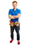 Artisan with a tool belt Royalty Free Stock Image