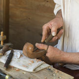 Artisan who prepares a musical instrument Royalty Free Stock Images