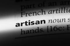 Artisan. Word in a dictionary.  concept Stock Photos