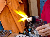 Artisan Working With Blowtorch Royalty Free Stock Photography