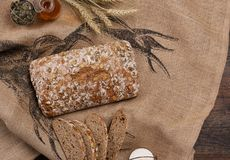 Artisanaal broodbrood royalty-vrije stock foto's
