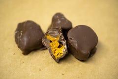 Artisanaal Chocoladeclose-up royalty-vrije stock foto's