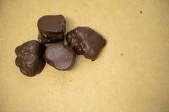 Artisanaal Chocoladeclose-up stock foto