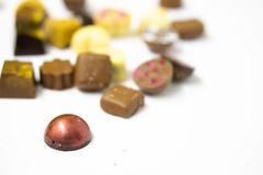 Artisanaal Chocoladeclose-up royalty-vrije stock fotografie