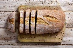 Artisanaal gespeld brood stock afbeeldingen