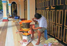 Artisanaal het schilderen aardewerk, Thailand stock fotografie