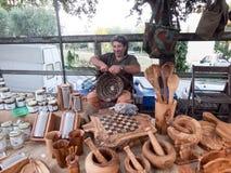 Artisanaal van manden in Italië stock afbeeldingen