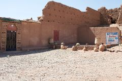 Artisanal Berber street shop Royalty Free Stock Image