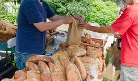 Artisanal Bread at Farmers Market Royalty Free Stock Photo
