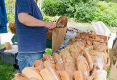 Artisanal Bread at Farmers Market Stock Image