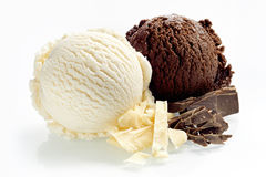 Artisanal dark and milk chocolate ice cream Royalty Free Stock Photography