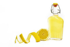 Artisanal Lemon Liqueur of Sardinia Royalty Free Stock Images