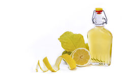 Artisanal Lemon Liqueur of Sardinia Stock Photos