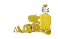 Artisanal Lemon Liqueur of Sardinia Stock Images