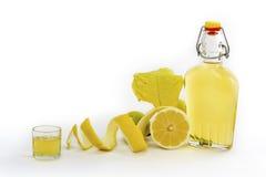Artisanal Lemon Liqueur of Sardinia Stock Photography