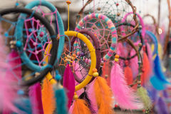 Artisanal market in San Carlos de Bariloche, Argentina. Colourful Dream Catchers at an artisanal market in San Carlos de Bariloche, Argentina Royalty Free Stock Photos