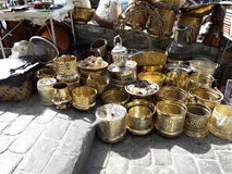 Artisanal products. In tangier city medina Stock Images