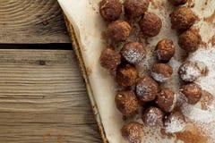 Artisanal truffle balls Royalty Free Stock Photography