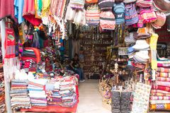 Artisanale Markt in Cusco, Peru Stock Fotografie