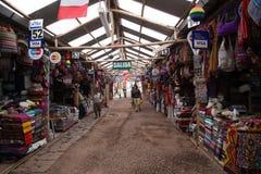 Artisanale Markt in Cusco, Peru Stock Foto's